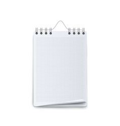blank calendar mockup with white graph and spiral vector image