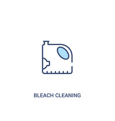 Bleach cleaning concept 2 colored icon simple vector