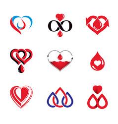 Blood donation conceptual collection healthcare vector
