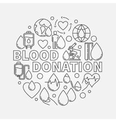 Blood Donation round vector