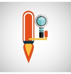 Business growth search icon design vector