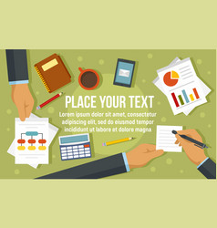 business meeting concept banner flat style vector image