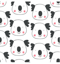 childish seamless pattern with hand drawn coalas vector image