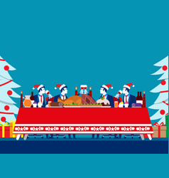 christmas dinner party concept business vector image