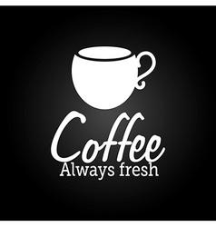 Coffee design over black background vector