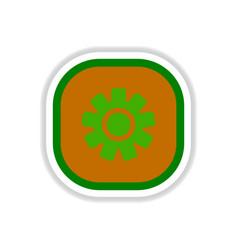 Color label design icon design button music vector