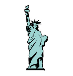 color statue liberty sculpture history design vector image