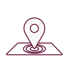Contour map symbol to delivery services vector