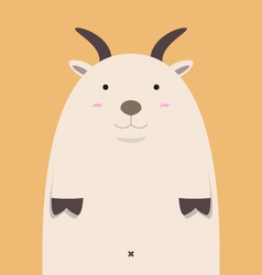 cute fat big goat vector image