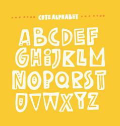 Cute hand drawn alphabet vector