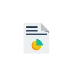 data report icon vector image