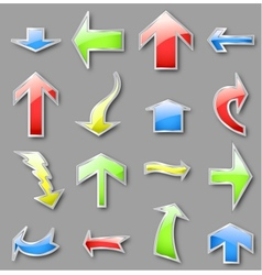 Different arrows in various colors vector image