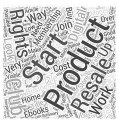 Digital Products with Resale Rights Word Cloud vector image