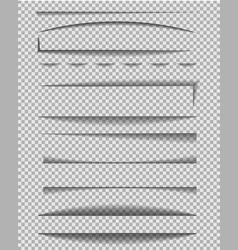 Divider shadow line frame edge paper on vector