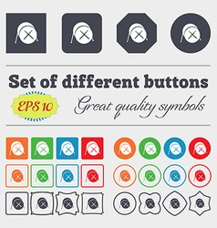 Drum icon sign Big set of colorful diverse vector