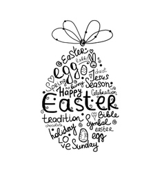 Easter egg sketch for your design vector image