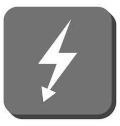 Electric Strike Rounded Square Icon vector