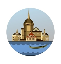Emblem of the city vector