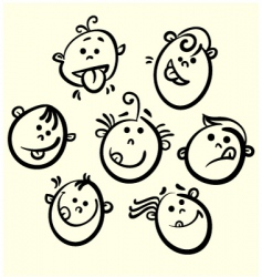 face collection vector image vector image