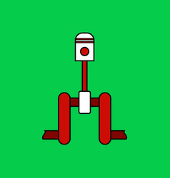flat icon design collection piston scheme vector image