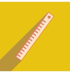 Flat with shadow icon and mobile application ruler vector
