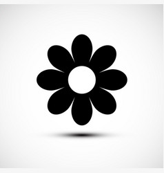 Flower icon simple plant symbol vector