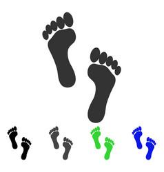 Footprints flat icon vector