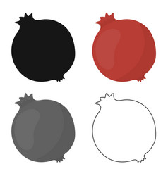 Garnet icon cartoon singe fruit icon from the vector