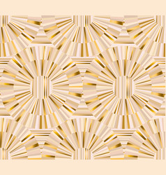 geometric baige and gold luxury seamless pattern vector image