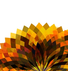 Geometric colorful flower shape isolate white vector