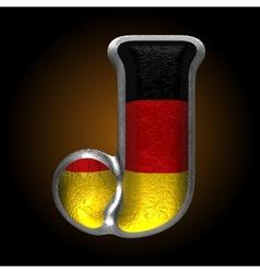 Germany metal figure j vector