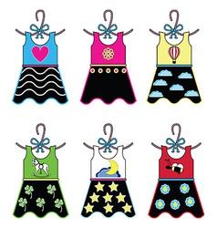 Girls wardropbe dresses vector image