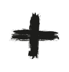 hand drawn cross grunge cross vector image
