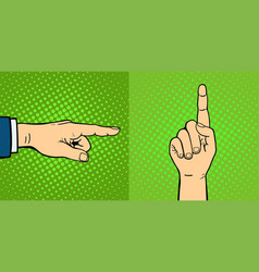 Hands showing deaf-mute different gestures human vector