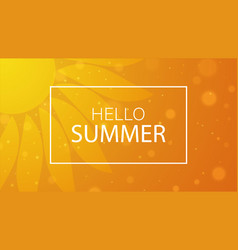 hello summer summer time background vector image