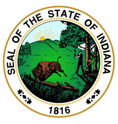 indiana state seal vector image