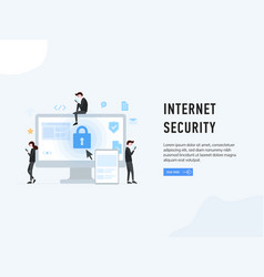 internet security web page poster vector image