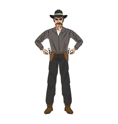 Isolated cowboy cartoon design vector image