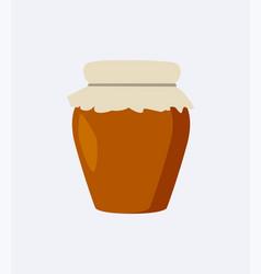 jar of brown color closeup vector image