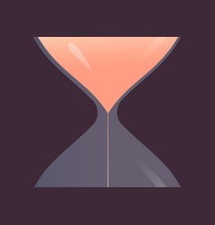 large a hourglass against dark background metaphor vector image