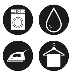 laundry alterations dry cleaning and sewing vector image