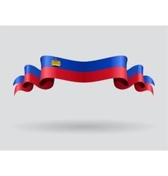 Liechtenstein wavy flag vector image