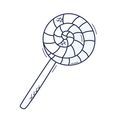 lollipop outlines isolated doodle style design vector image