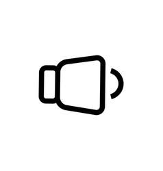 Low level volume icon vector
