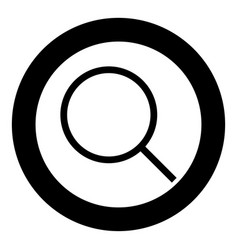 magnifying glass or loupe icon black color in vector image vector image