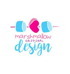 marshmallow original logo design label for vector image