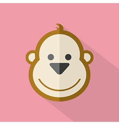 Modern Flat Design Monkey Icon vector image