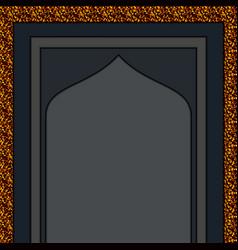 Moslem mosque gold entrance vector