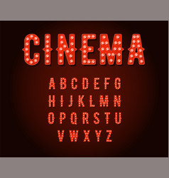 neon casino or cinema broadway signs style light vector image