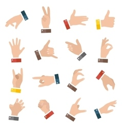 Open empty hands showing different gestures 16 vector image